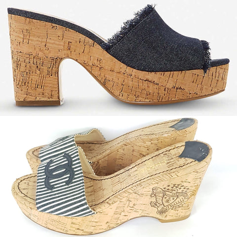 Match that style buy preloved chanel wedges now