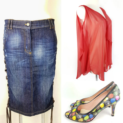 Buy your denim look second hand, Roberto Cavalli, Dior and Paul Smith