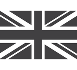 UK flag in black and white