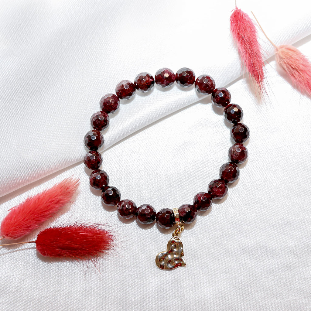 Energy And Balance Garnet Natural Stone Bracelet