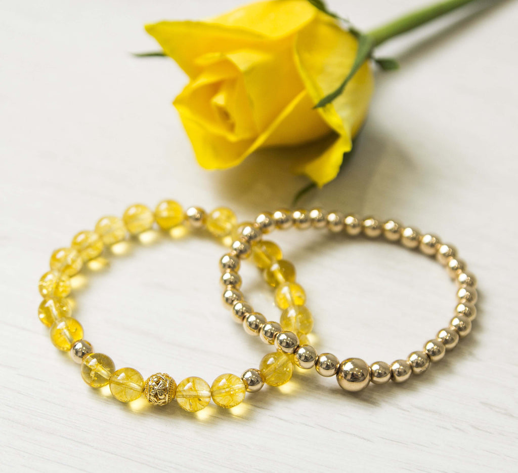 'Divine Yellow' Bracelet Set