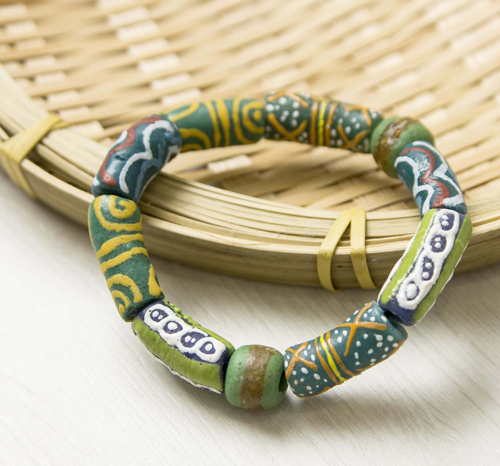 African Beads Stretch Bracelet