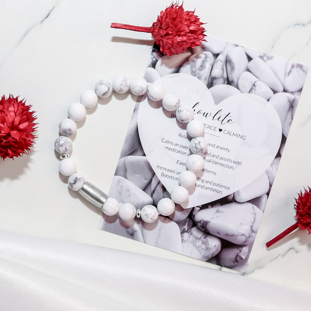 'Peace And Calm' Howlite Stones Bracelet