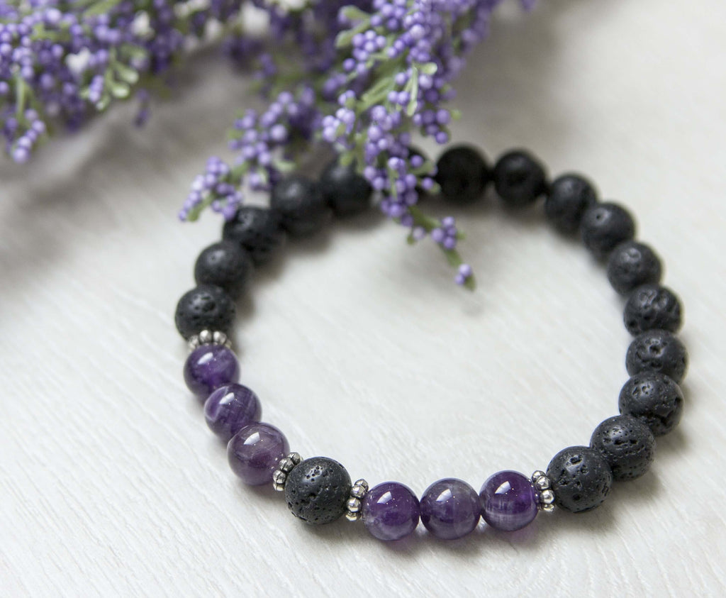Strength And Courage Lava Stone Diffuser Bracelet