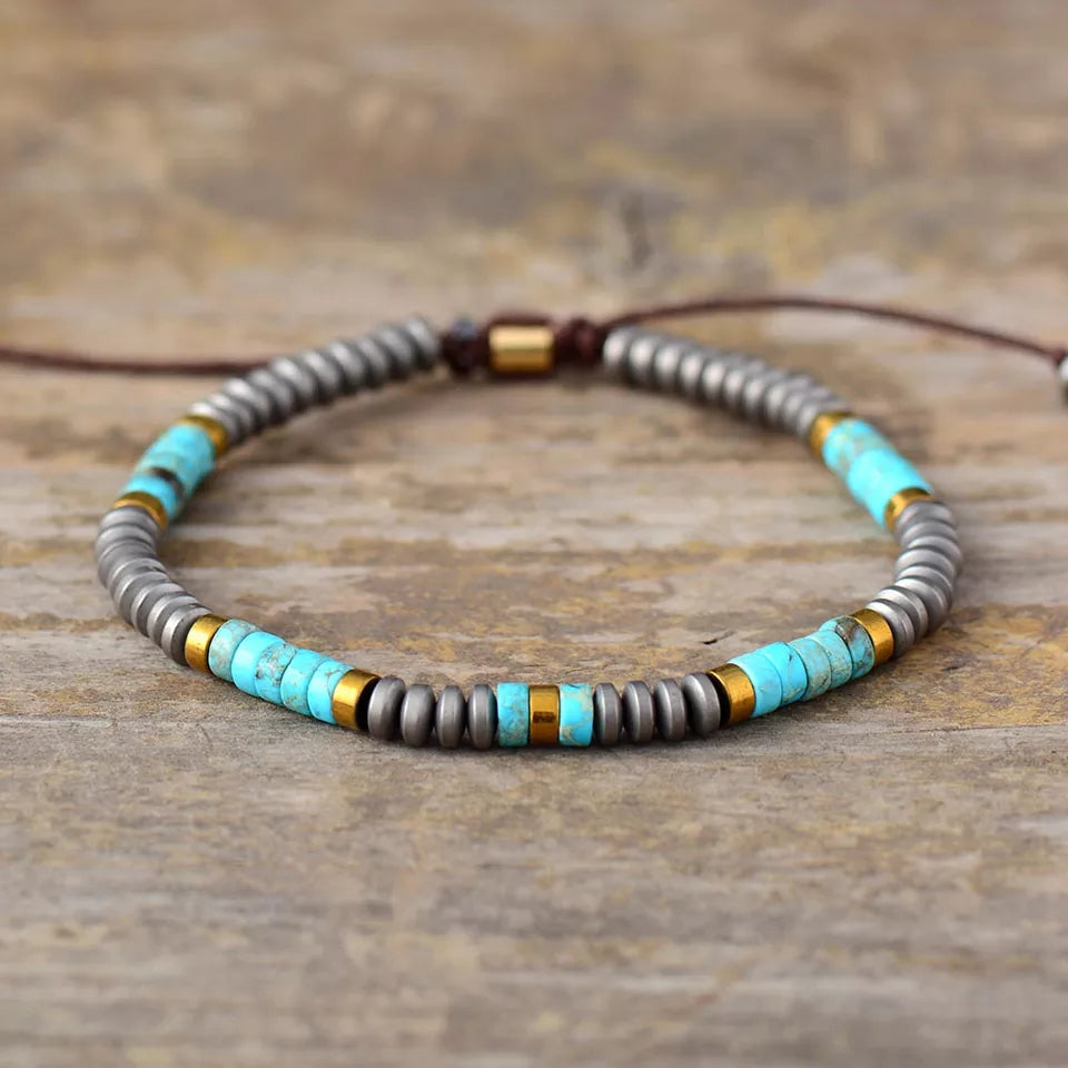 Men Jasper And Hematite Friendship Bracelet