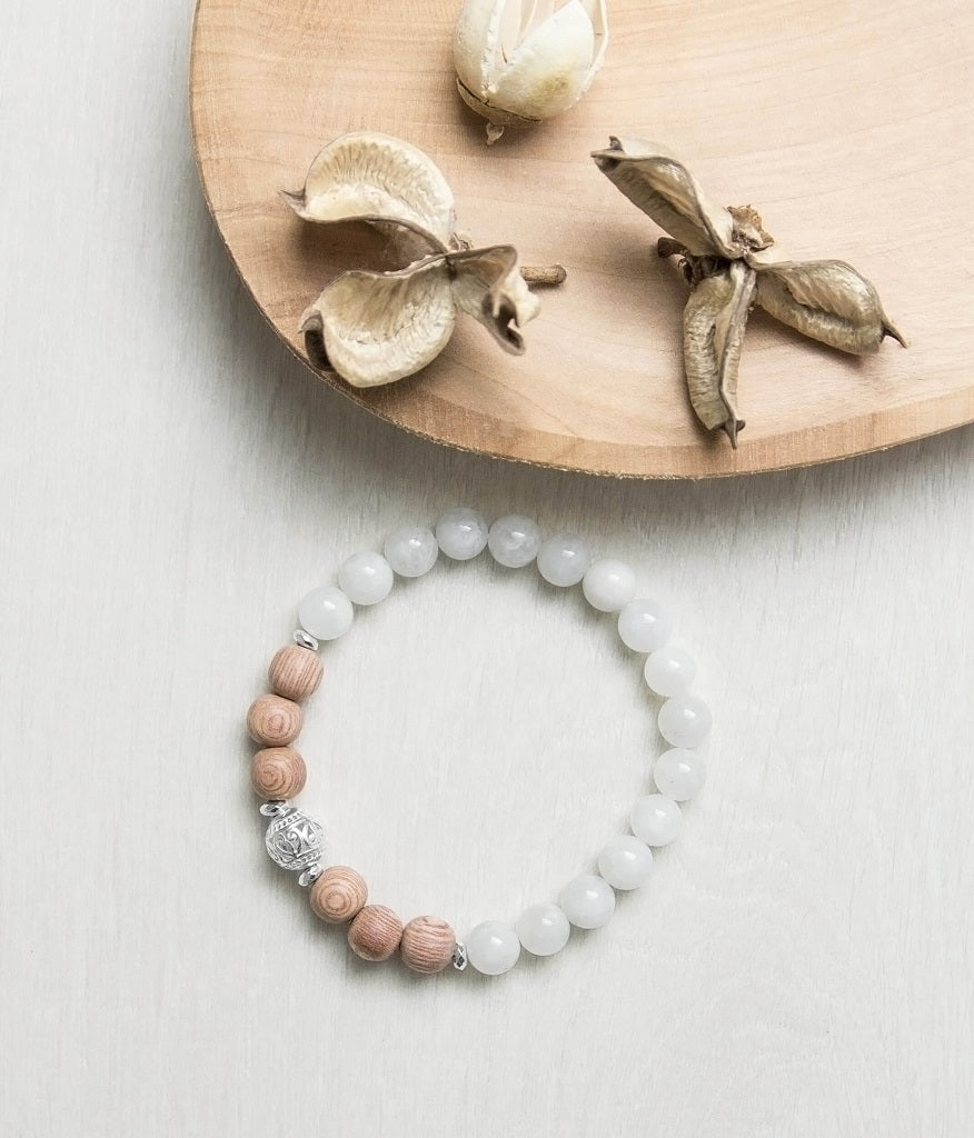 'Protection And Growth' Moonstone Diffuser Bracelet