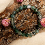 Stability And Grounding Moss Agate Bracelet