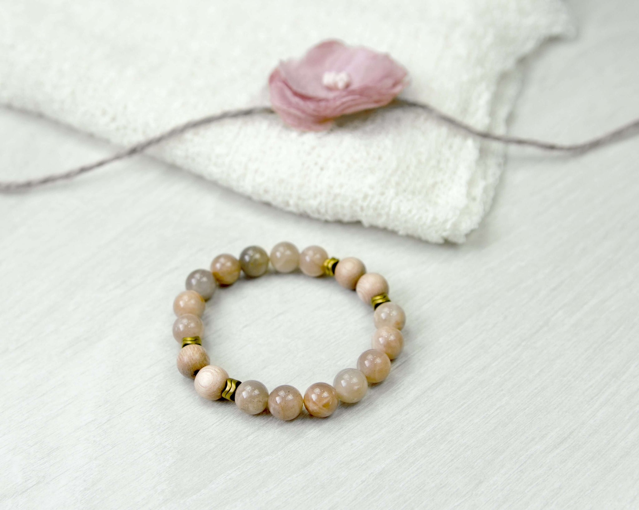 'Happiness and Prosperity' Sunstone Diffuser Bracelet