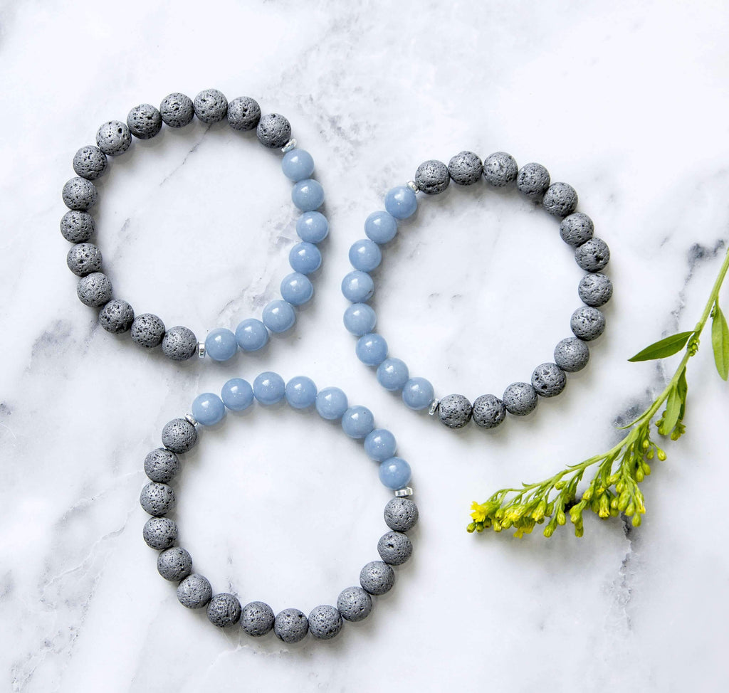 'Protection and Peace' Lava Stone Diffuser Bracelet