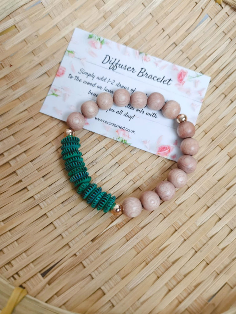 Bone Beads Essential Oil Diffuser Bracelet