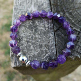 'Amethyst Dream' Natural Stone Beaded Bracelet Bracelets BeAdornedUK
