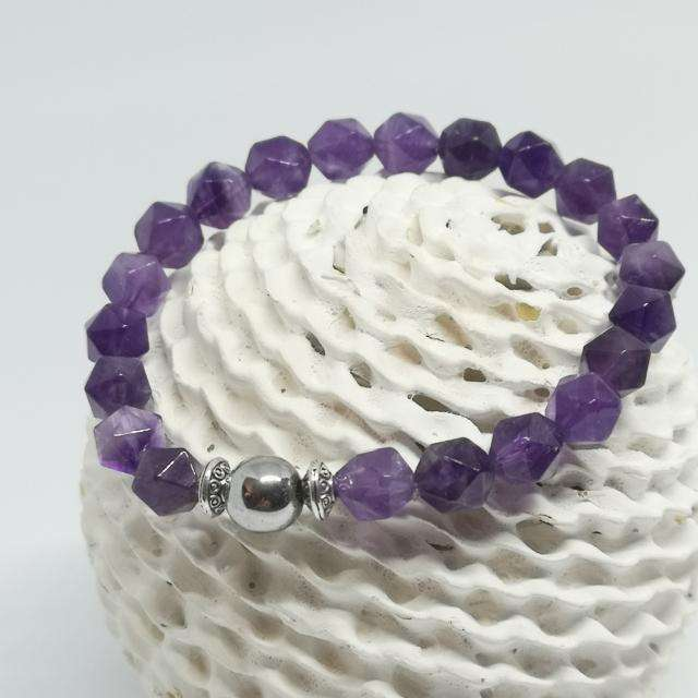 'Amethyst Dream' Natural Stone Beaded Bracelet