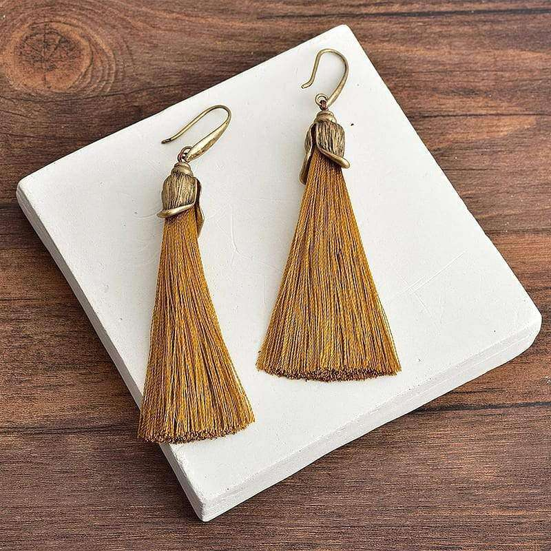 Bohemian Style Long Tassel Earrings