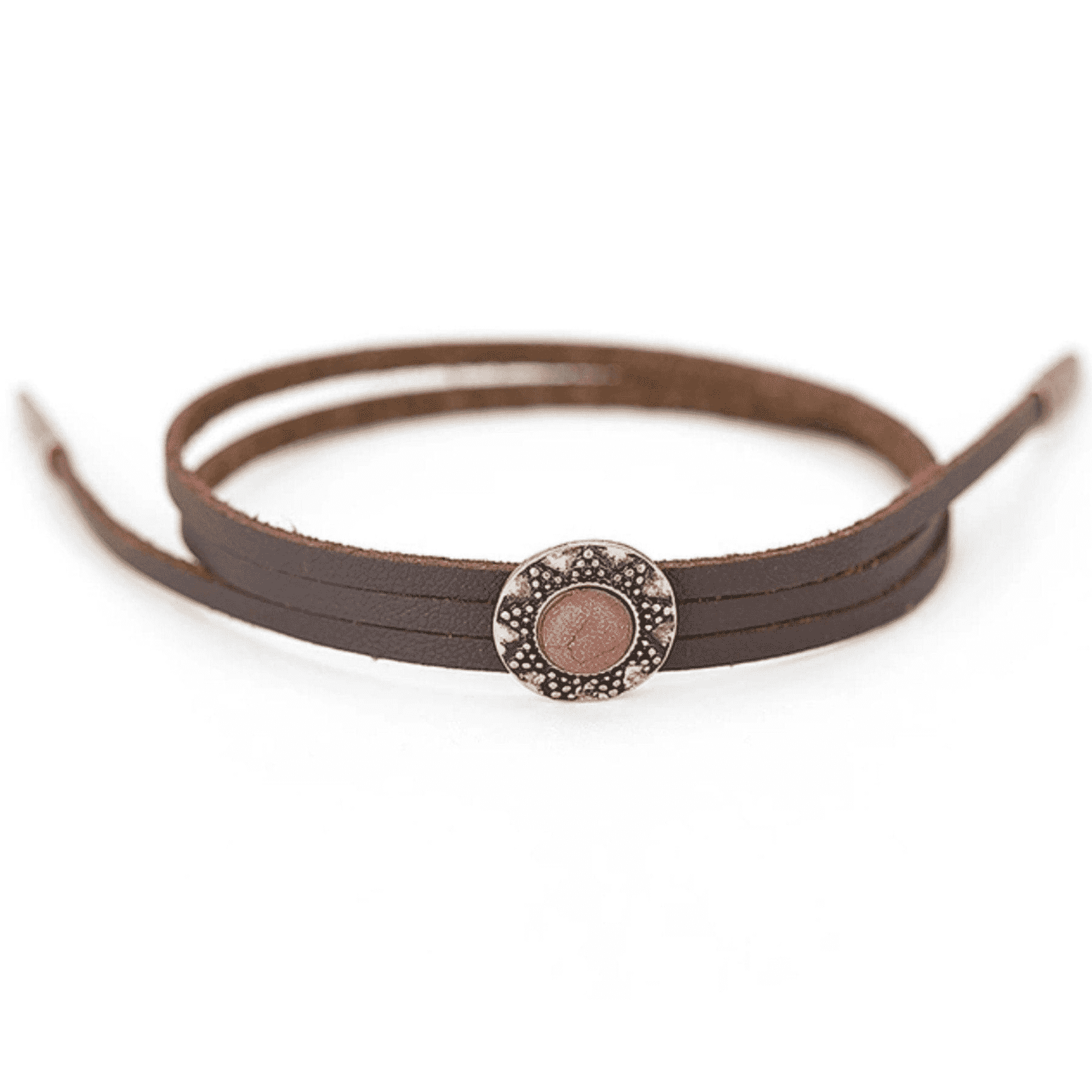 Boho Style Leather Charm Bracelet