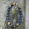 Red Tiger Eye And Lava Rock Stone Diffuser Handmade Bracelet