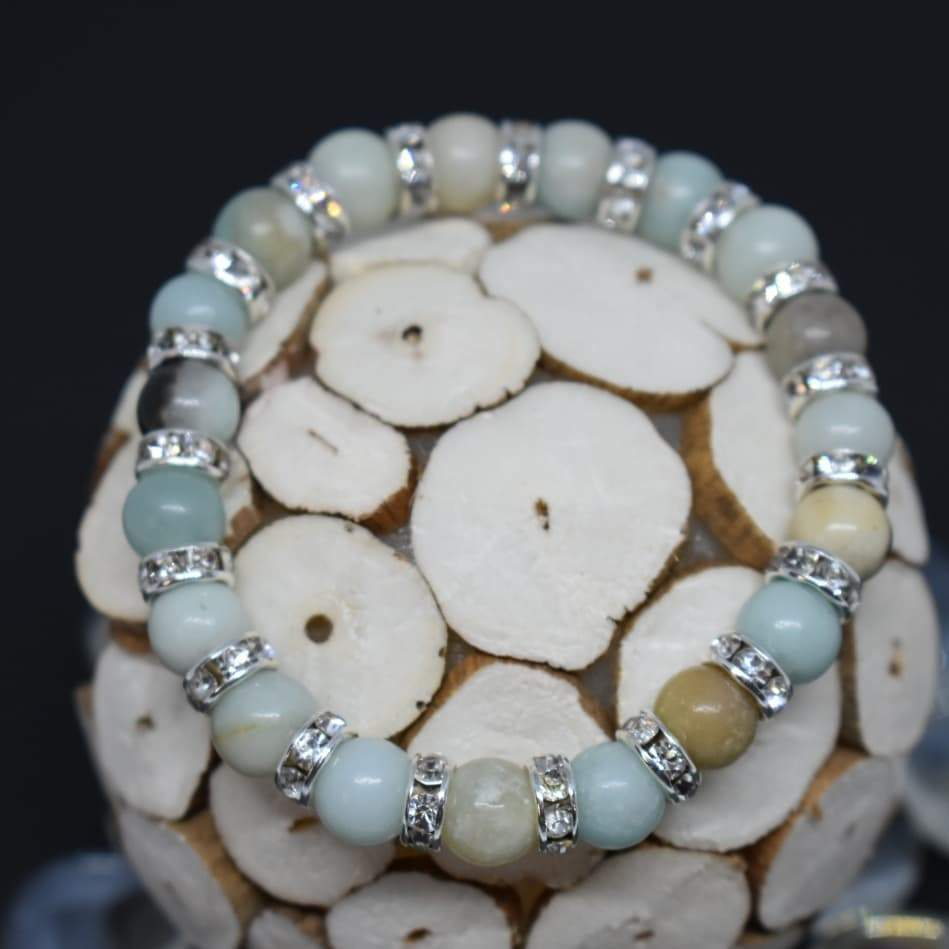 Courage And Truth Amazonite Beaded Bracelet