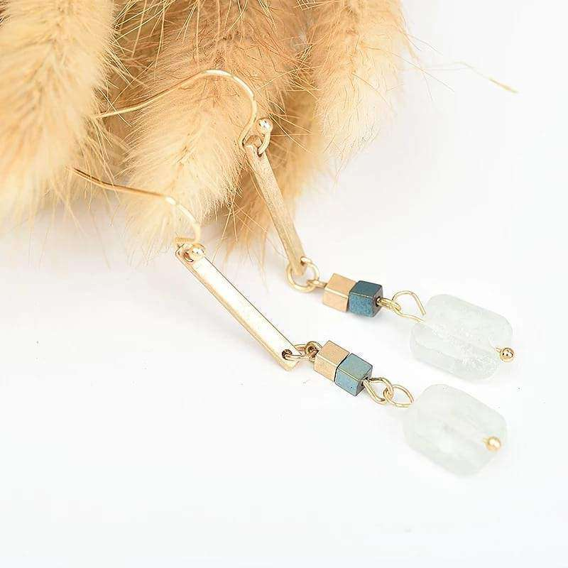 Deepest Desire Dangle Earrings Quartz Crystals Earrings Handmade