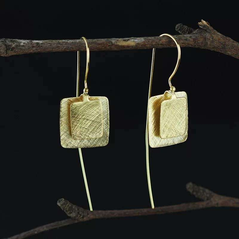 Geometric Sterling Silver Statement Earrings Earrings Handmade