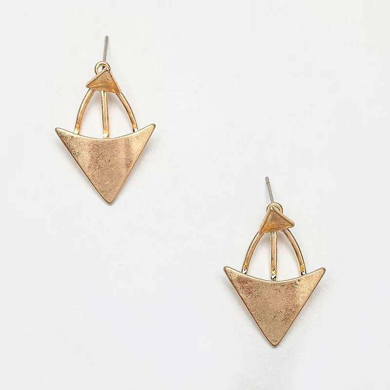 Graceful Triangles Stud Earrings Earrings BeAdornedUK Gold