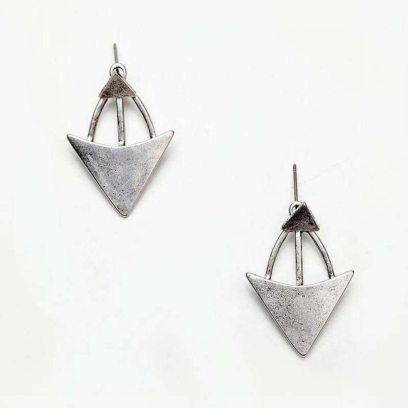 Graceful Triangles Stud Earrings Earrings BeAdornedUK Silver
