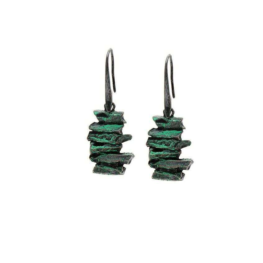 Green Vintage  Style Drop Earrings