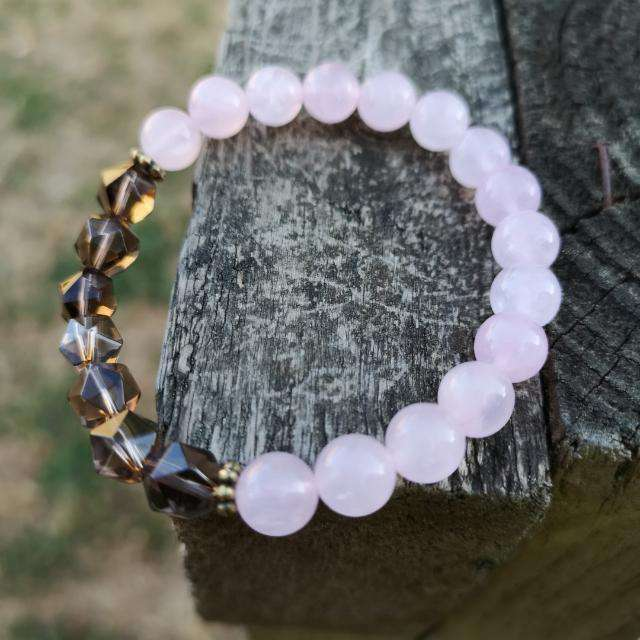 'Harmony in Pink' Healing Crystals Bracelet