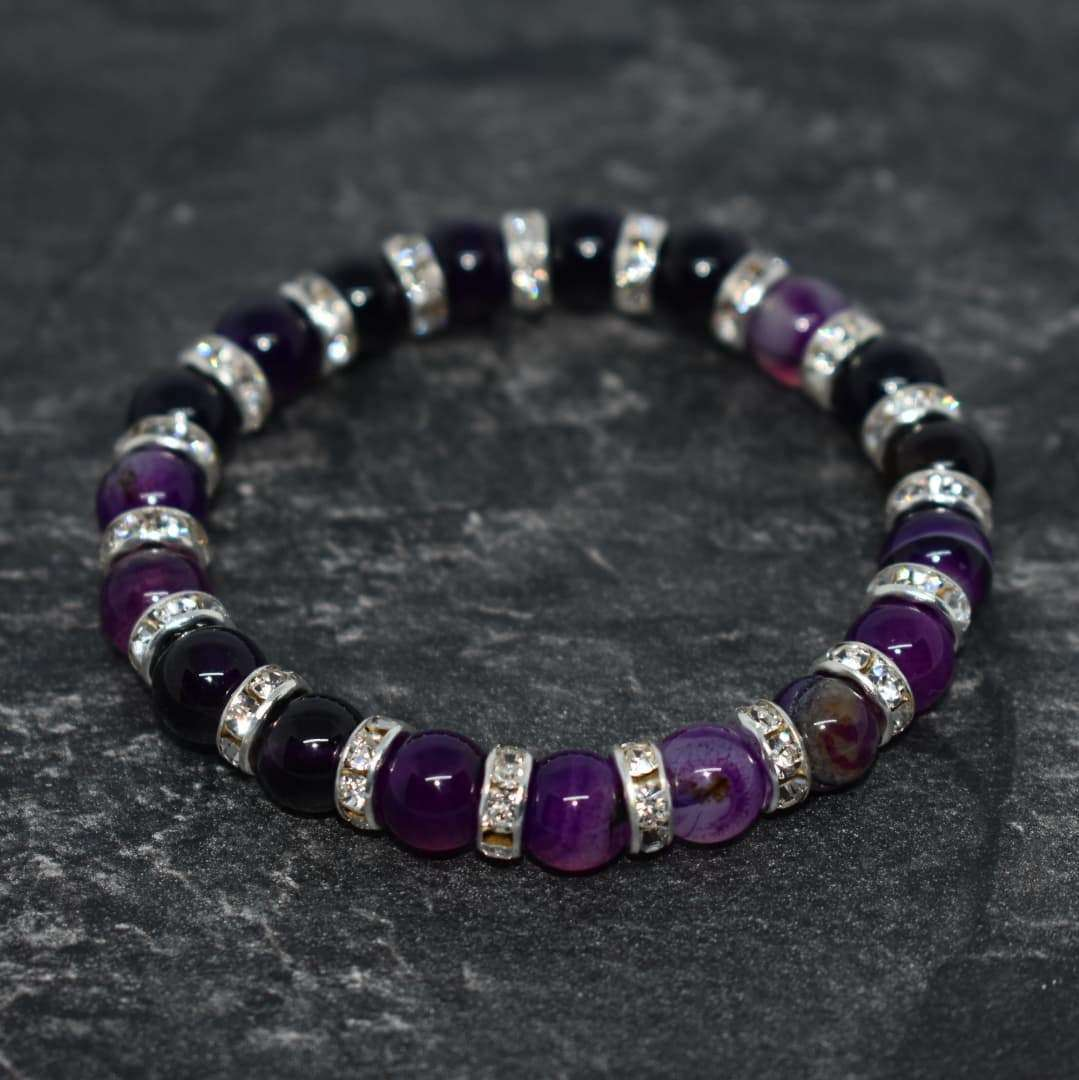 Powerful Talisman Beaded Bracelet  Agate Natural Stone