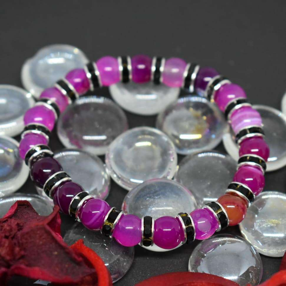 Powerful Talisman Beaded Bracelet Agate Natural Stone Bracelets BeAdornedUK
