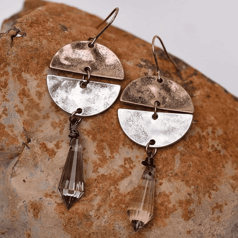 'Purity of Rain' Vintage Antique Silver Drop Earrings