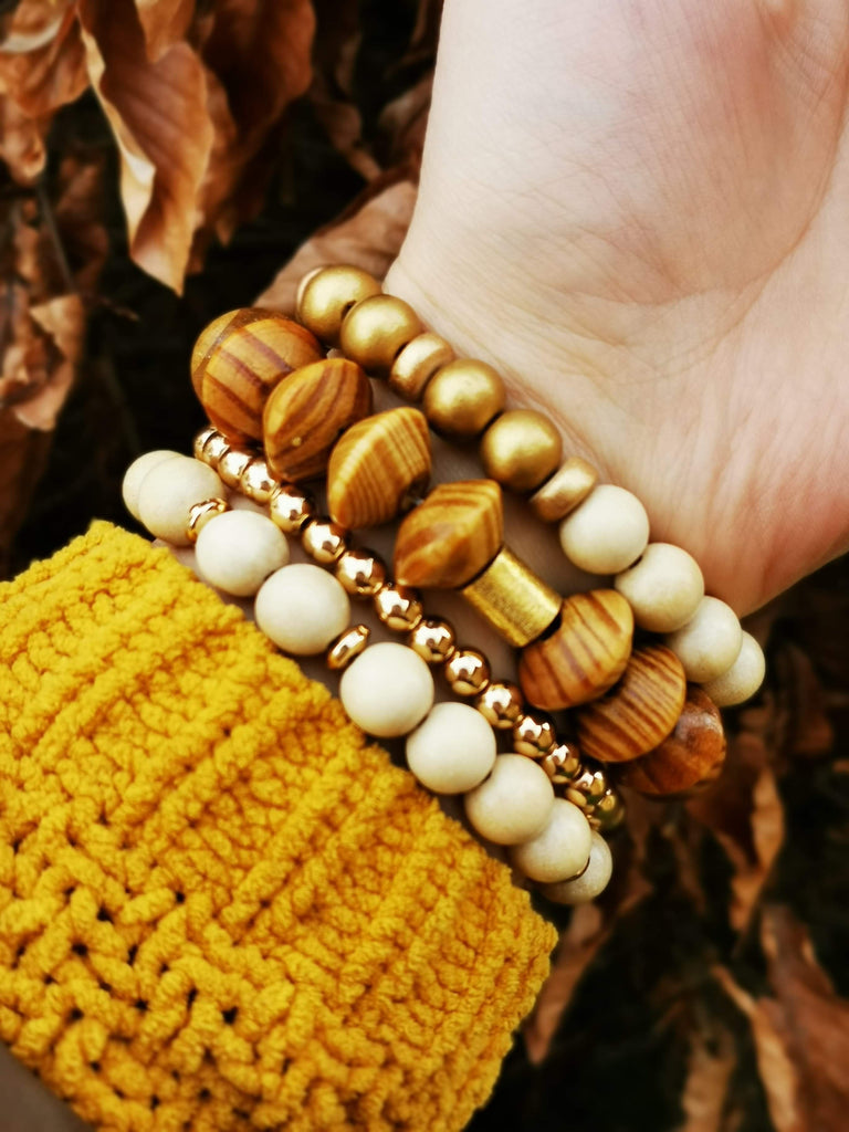 'Brown Radiance' Large Beads Bracelet