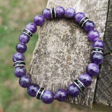 Sleep Bracelet - Handmade With Amethyst Crystal Beads