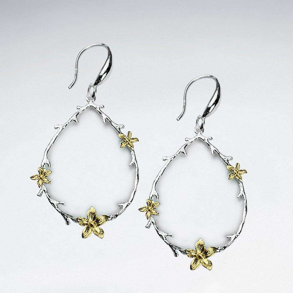 Romantic Teardrop Flower Dangle Earrings Earrings BeAdornedUK