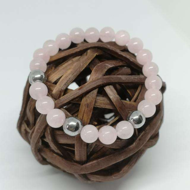 'Rose Lady' Rose Quartz Beaded Bracelet