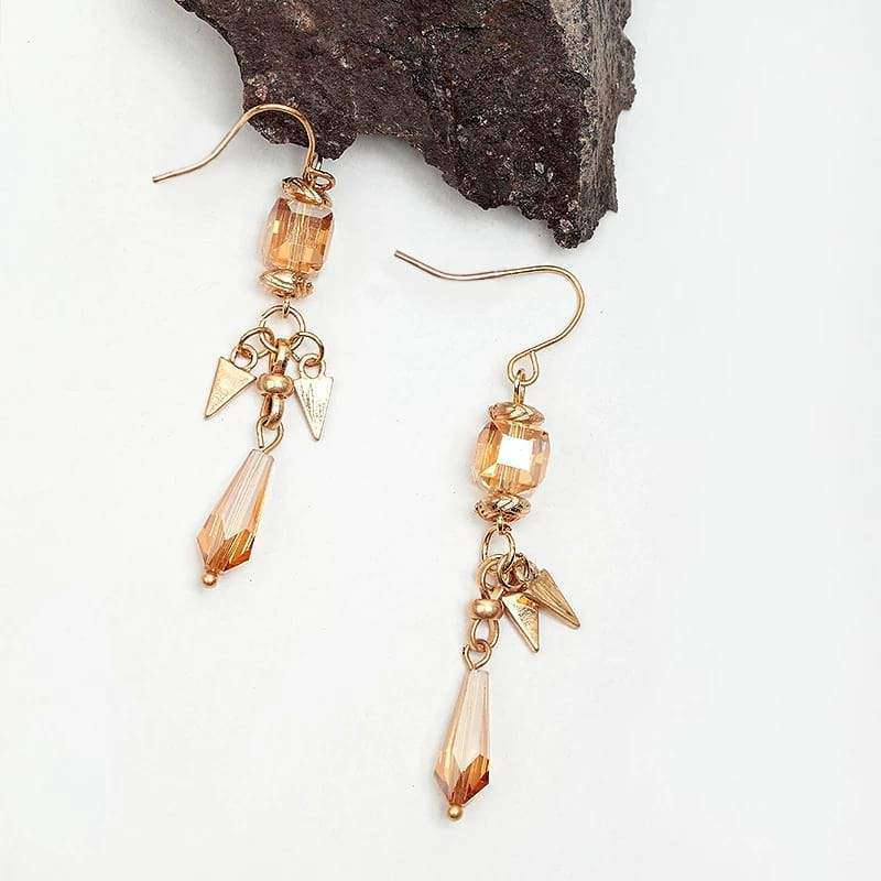 Simple Glamour Dangle Earrings Vintage Style