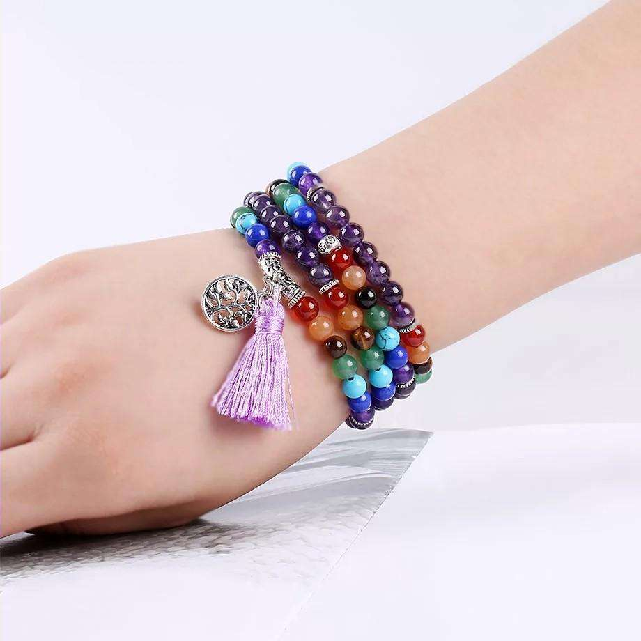 'Spirit Of Friendship' 7 Chakra Multilayer Charm Bracelet
