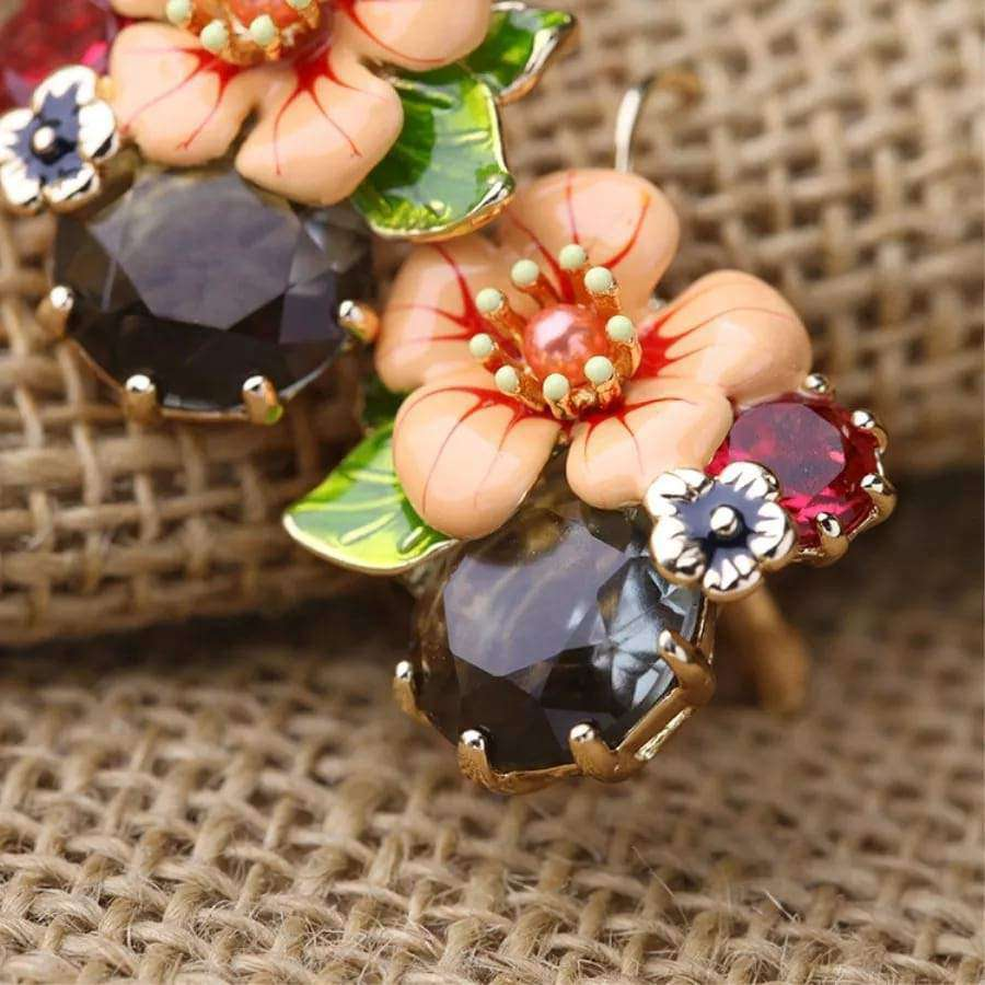 Statement Flower Drop Earrings Earrings BeAdornedUK