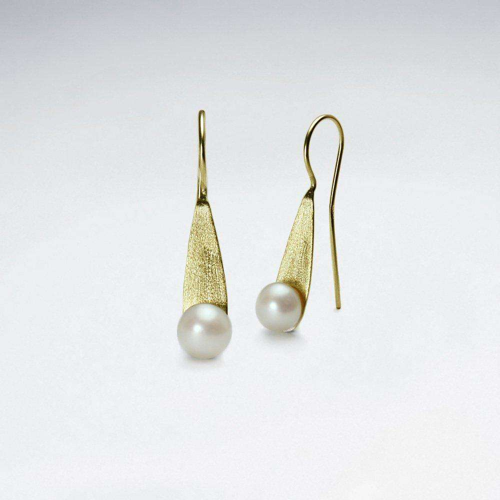Sterling Silver Pearl Drop Earrings Earrings BeAdornedUK