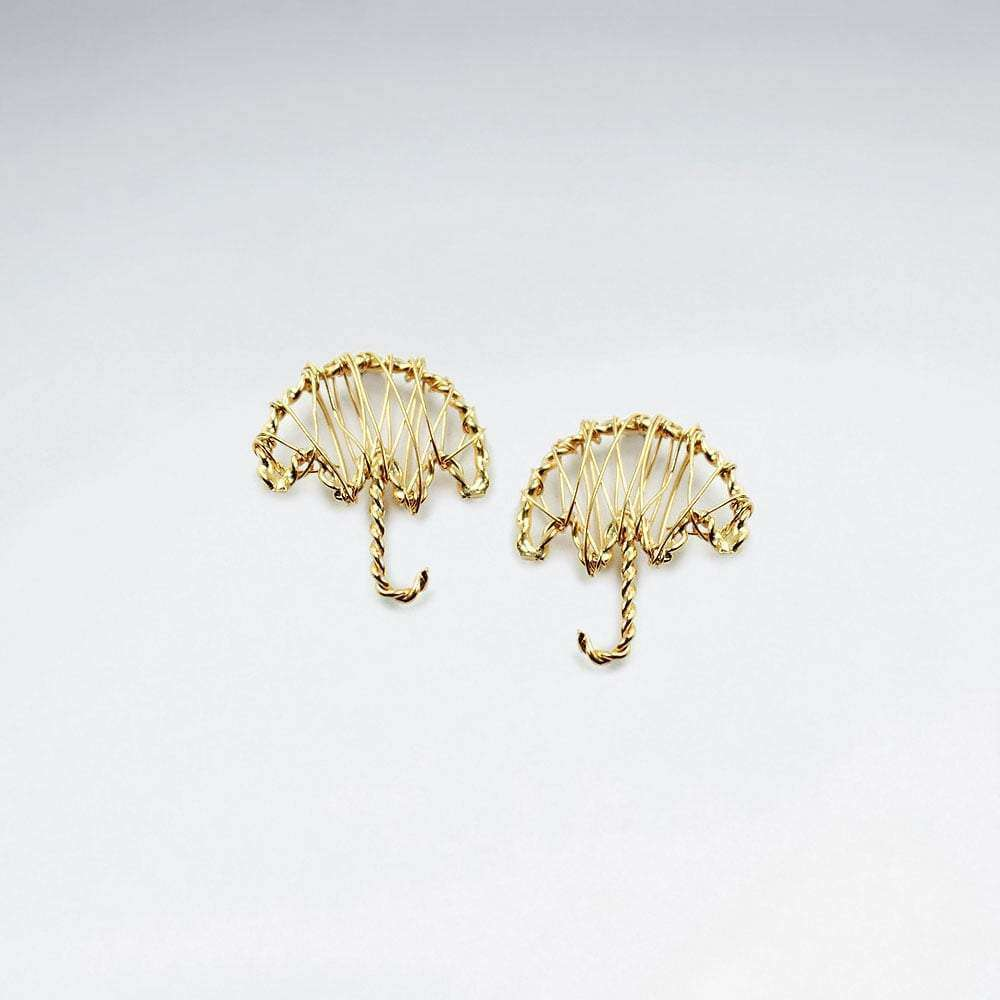 Sterling Silver Wirework Umbrella Twist Earrings