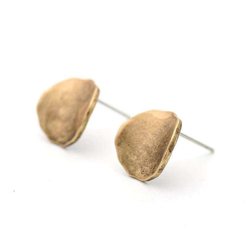 Unique Stud Earrings Earrings Handmade Antique Gold