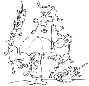 Raining Cats & Dogs Card
