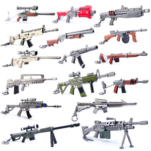 28 Styles Action Figure Fortress Fornight Keychai Toy Battle Royalen From FORTNIT Scar Rifle Weapon Model Alloy Weapons PUBG