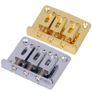 50mm Guitar Bridge Adjustable Tailpiece for Cigar Box Guitar 3 String Hard-tail Tailpieces with Saddles Guitar Accessories