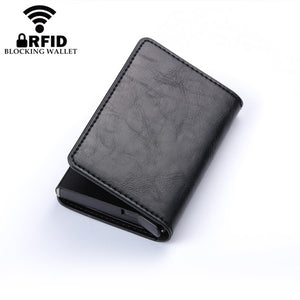 Business Credit Card Holder Men And Women Metal RFID Vintage Aluminium Box