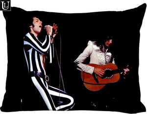 Custom freddie mercury Rectangle Pillow Cover Size 45x35cm (one side) Print Custom Zipper Polyester Cotton Pillowcase more size