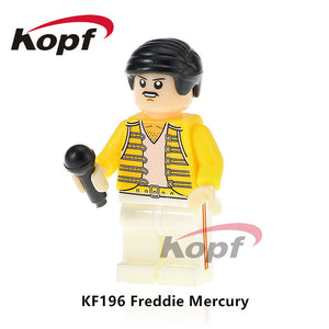 KF196 Super Heroes Freddie Mercury Lead Singer Queen Michael Jackson Popeye Building Blocks Collection For Children Gift Toys