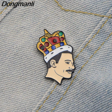 Queen Lead Singer Freddie Mercury(Farrokh Bulsara) band Music Art Freddie Mercury Pin Soft Enamel brooch