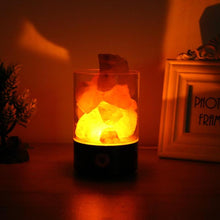 Romantic Cylinder Crystal Salt Lamp Negative Ions Air Purifier LED Night Light Ambient Light Home Aisle Bedroom Decorative Lamp
