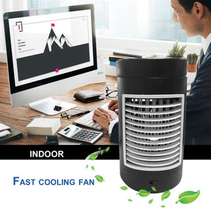 (Ship From RU ) Practical Design 2 Speeds Home Office Evaporative Air Cooler Fan Portable Size Low Noise Air Conditioning Fan