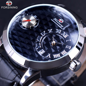 Forsining Small Dial Second Hand Display Mens Watches Top Brand Luxury Automatic Fashion Casual Watches Obscure design Clock Men - I need more allowance