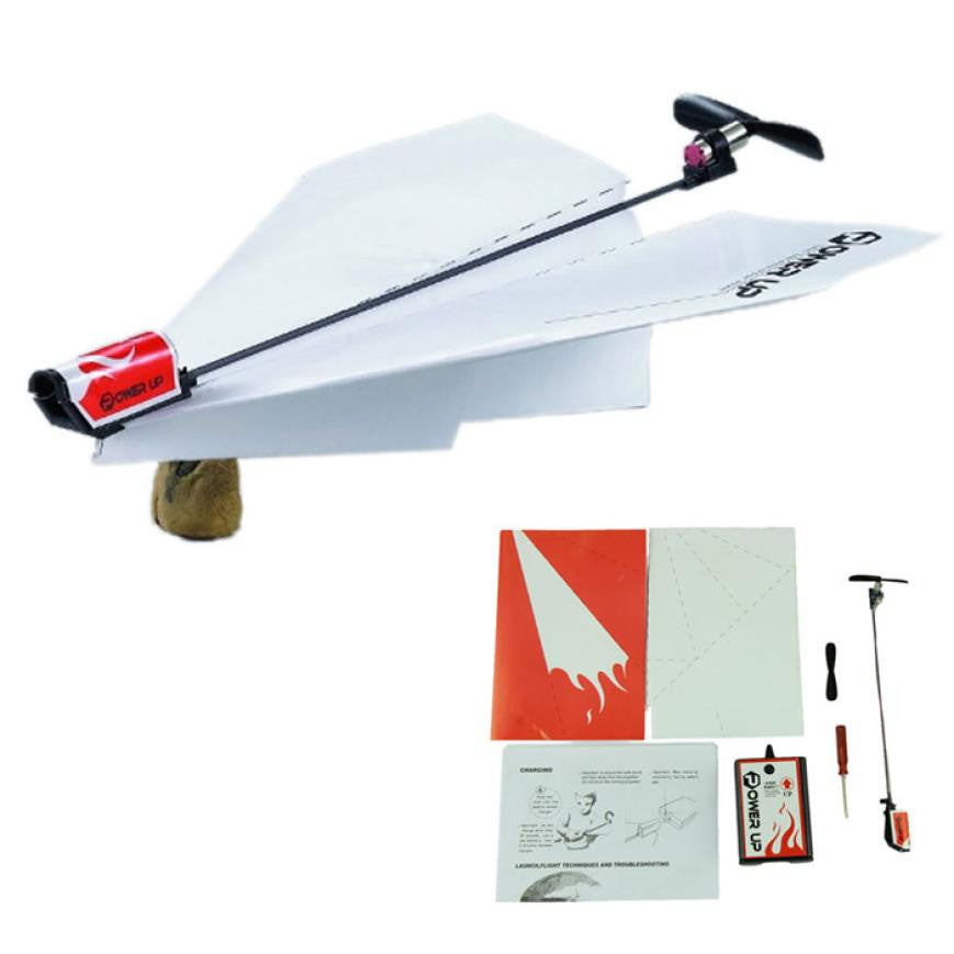 Power up electric paper plane airplane conversion kit fashion educational toys children toy kids toys Brain tease airplane toy - I need more allowance